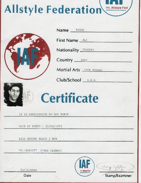 Kickboxing IAF Certification
