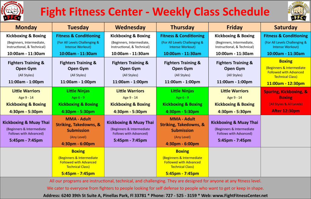 fight-fitness-center-weekly-class-schedule